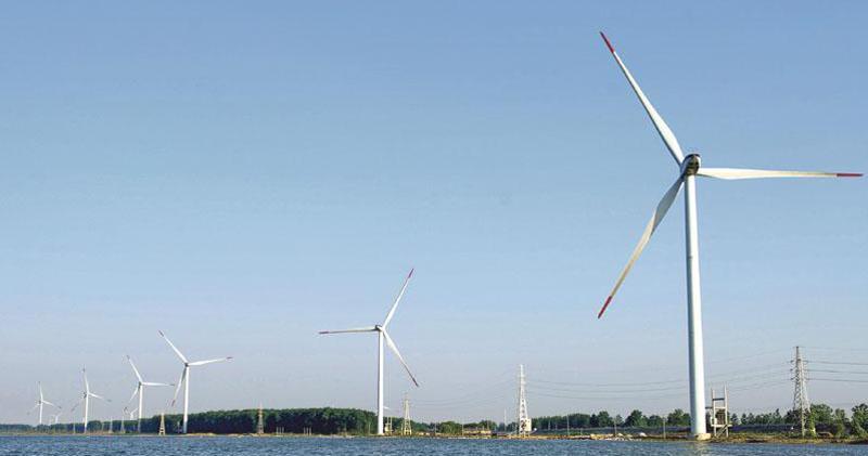 新能源風電股今日表現上揚。