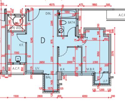 逸瓏灣8 3C座2樓D室、實用面積490方呎