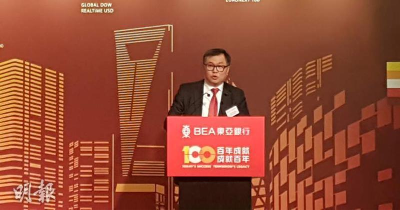 東亞銀行貨幣及利率交易部主管陳德祥(歐陽偉昉攝)