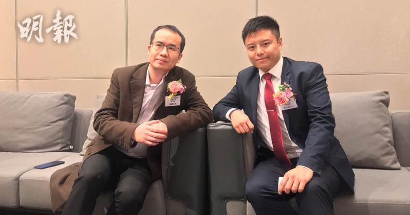 圖左為特斯聯科技副總裁謝超、右為星火科技行政總裁馬志恆(劉旭霞攝)