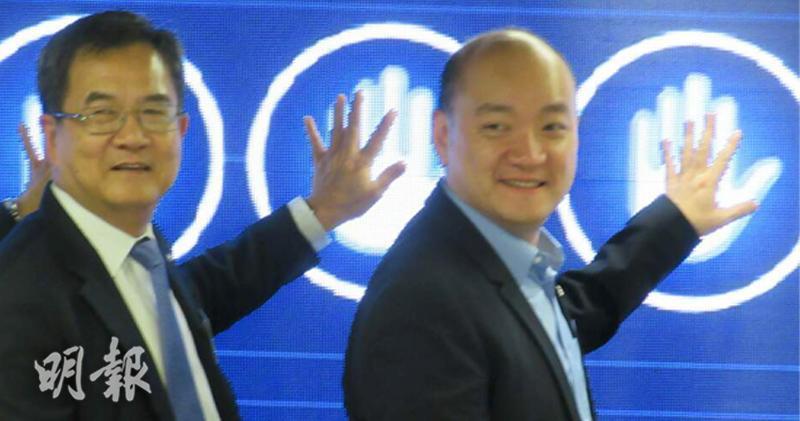 俊和:尋求創新科技降營運成本 。左: 李家粦、右: 亞洲聯合基建主席彭一庭