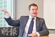 駿利亨德森全球地產股票基金聯席主管高博深預期,今年美息料見頂,甚至有機會減息,利好環球地產股。(李紹昌攝)