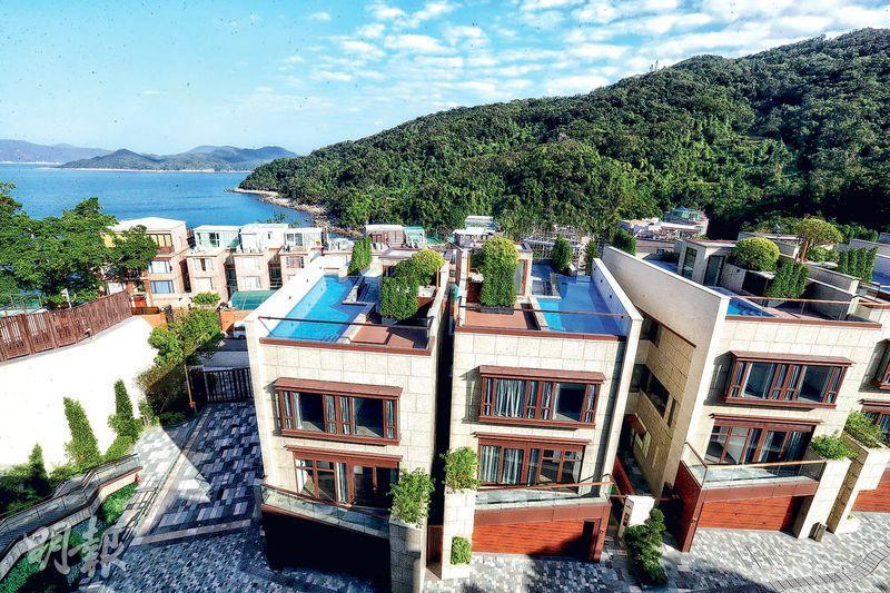 項目所有單位頂層天台設泳池,可飽覽銀線灣美景。(李紹昌攝)