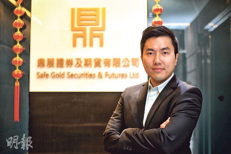 鼎展金融集團研究部經理陳鴻璣看好港股後市,特別近期牛熊證中熊證佔比較高,若要夾淡倉,恒指會有機會衝上30,000點,殺熊機會大增。(楊柏賢攝)