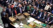 英國國會當地時間周二(29日)晚上辯論脫歐協議修正案。(路透社)