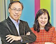 香港投資者關係協會創會主席陳綺華(右)指投資者對上市公司有充分了解,最終可使股價達至公允價值。圖左為香港理工大學會計及金融學院財務學教授鄭子云。(鍾林枝攝)