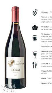 這款家常酒由這向南陽光燦爛的Rasteau村山坡高處的葡萄釀造,口感雄厚果味十足,物有所值。