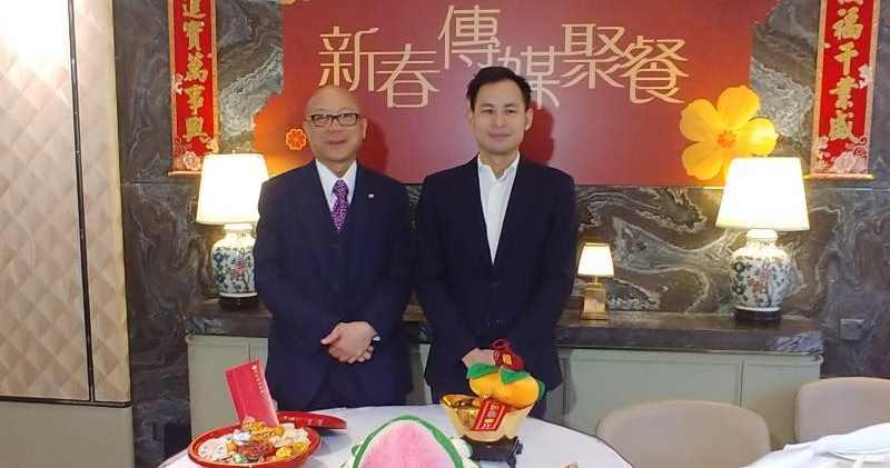 圖左為張炳強,圖右為英皇國際執行董事楊政龍。林尚民攝