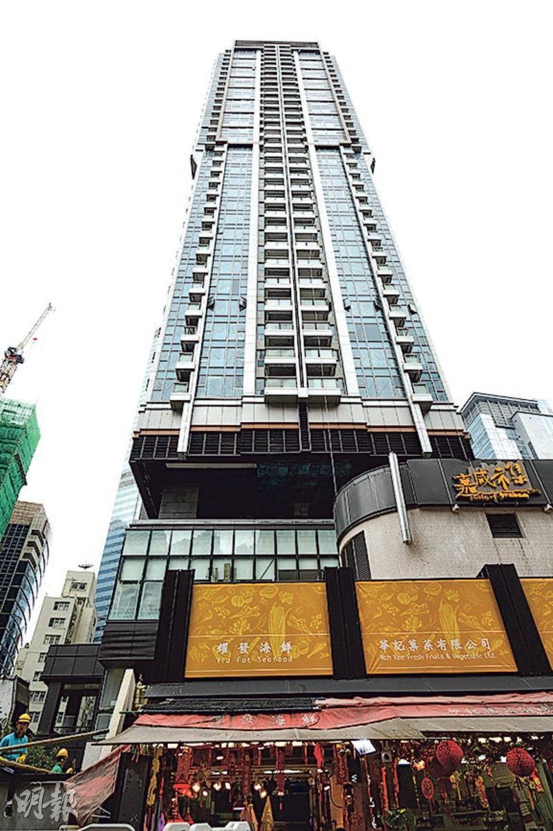 中環嘉咸街MY CENTRAL未收樓,已有個別業主急不及待放租,月租最平8.8萬元起,實用呎租最高達132元。(賴俊傑攝)
