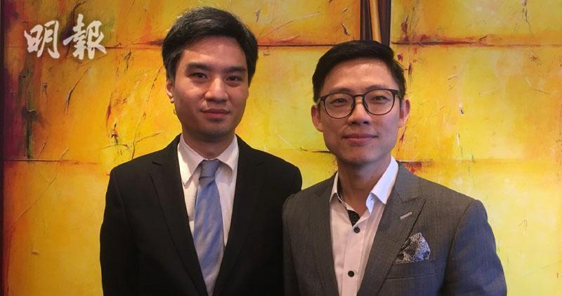 左起:凱知樂財務總監陳振洋、助理行政總裁及首席財務官洪誠明(李哲毅攝)