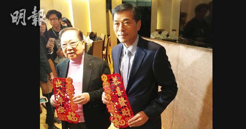 左起:會德豐梁志堅、會德豐地產常務董事黃光耀(林可為攝)