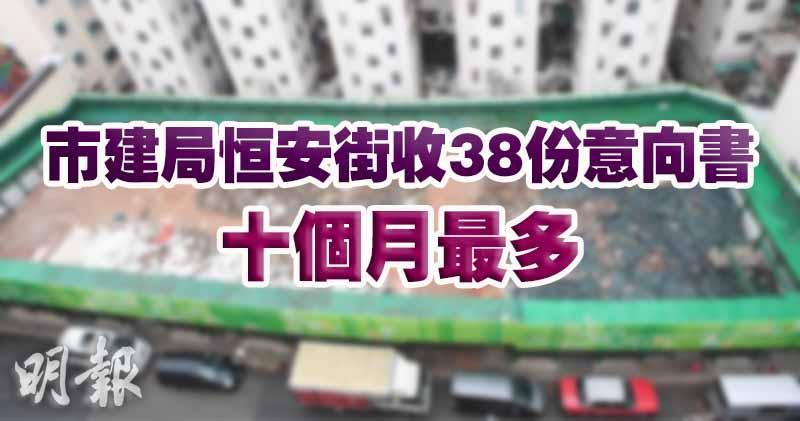 【反應熱烈】市建局恒安街共收38份意向書 10個月最多