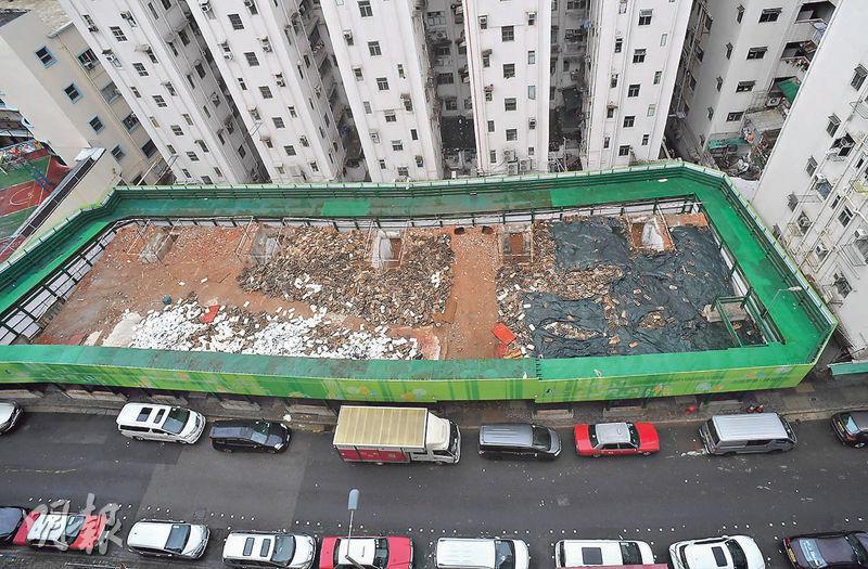市建局觀塘恒安街項目,佔地8500方呎,最高可建樓面約71,688方呎,市場估值約6.5億至7.2億元。(劉焌陶攝)