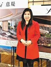 香港興業愉景灣新盤意堤,為區內相隔約30年後再有開放式戶的新盤,集團銷售及市務助理總經理陳秀珍稱,項目最快3月初開售。(謝穎怡攝)