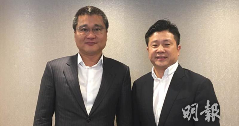 左起:優品360行政總裁許志群、主席兼執行董事林子峰