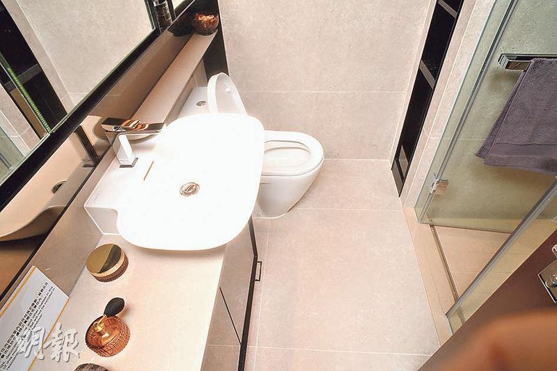 浴室亦備有儲物空間,但不設通風窗。(劉焌陶攝)