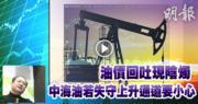 油價回吐現陰燭 中海油若失守上升通道要小心