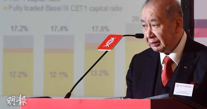 東亞銀行主席李國寳(劉焌陶攝 )