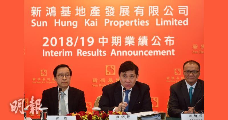 郭炳聯:年售400億樓盤 會增購住宅土儲。(蘇智鑫攝)