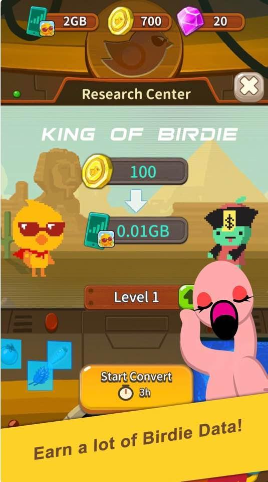 自由鳥Mobile推出首個手機遊戲「種GB的自由鳥」,玩家透過完成不同任務賺取遊戲金幣後,可用其換取流動數據。
