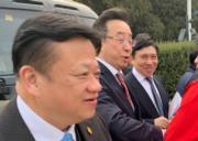 全國政協委員、新地(0016)主席兼董事總經理郭炳聯(右一)。(李哲毅攝)