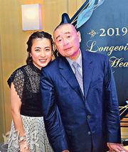 華置大股東劉鑾雄(右)及妻子華置執董陳凱韻。