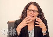 宏利Lisa Welch看好業務分散美國不同地區的銀行,以及個別的跨國銀行,指股價和估值都同樣吸引,並投資不少在科技,十大持股亦見美銀和摩通的身影。(李紹昌攝)