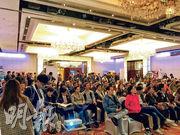 《明報》上周六舉辦的環球置業聯展暨教育及投資講座,有近千讀者到場,場面墟冚。
