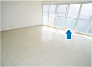 圓形設計是趙世曾設計特色,如主人房的露台(箭嘴示)。(劉焌陶攝)