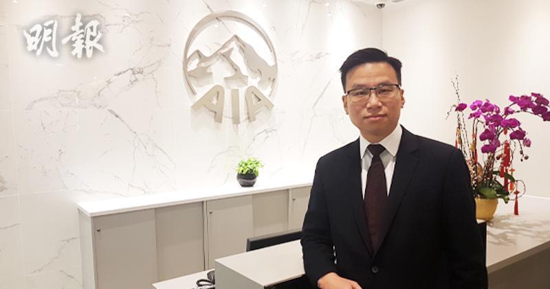 友邦香港及澳門首席財富管理總監張嘉駒(歐陽偉昉攝)