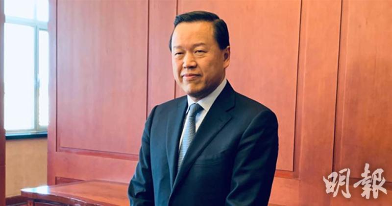 證監會主席雷添良於北京與媒體見面。(劉利攝)
