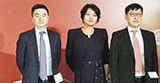 中國平安擬以最多百億元人民幣回購A股,但未有提及回購H股。左起為首席財務官兼總精算師姚波、聯席首席執行官陳心穎與聯席首席執行官李源祥。(歐陽偉昉攝)