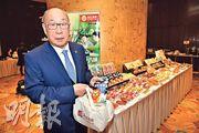 萬洲主席兼首席執行官萬隆(圖)表示,中美貿易戰令萬洲旗下美國Smithfield出口豬肉至中國受影響。(蘇智鑫攝)