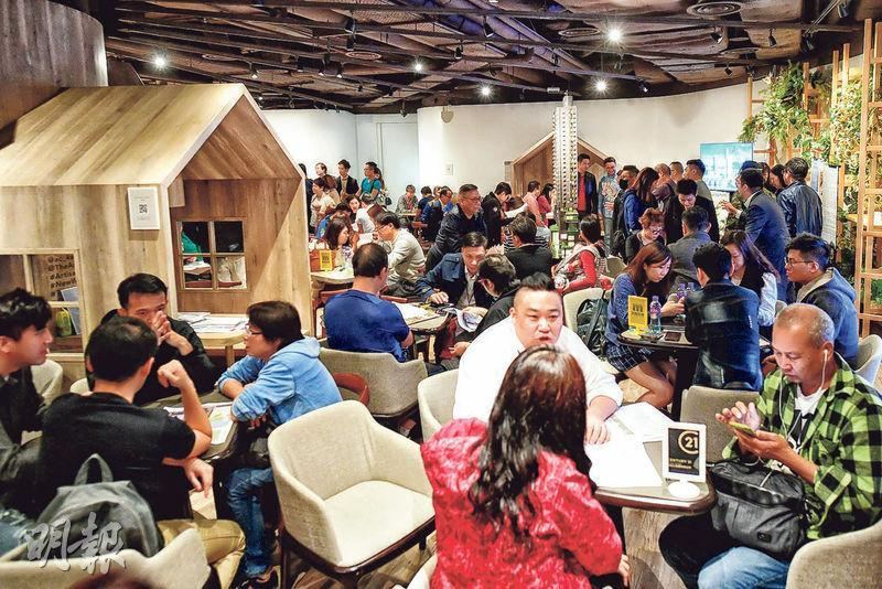 土瓜灣瑧尚3日累收逾千票,超額認購逾10倍,發展商擬日內加推50伙應市。(賴俊傑攝)