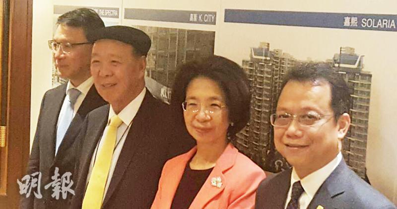 左起: 呂耀華、呂志和、呂慧瑜、林鋈鎏(陳偉燊攝)