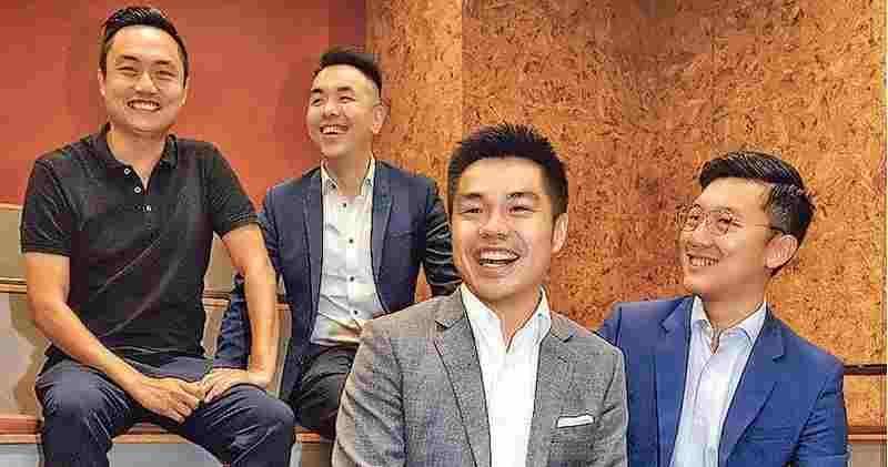 前排右二莎莎國際太子爺郭浩泉(資料圖片)