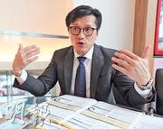 永明資產管理首席投資策略師雷志海稱,外圍風險增加,投資者不應期望港股年初至今的強勁表現,在今年餘下時間延續。(李紹昌攝)