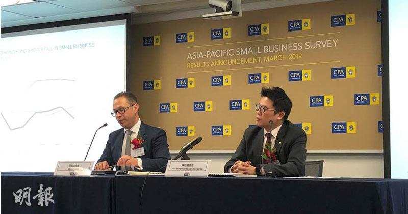 左起:公會商業及投資政策經理歐嘉文、公會大中華區分會副會長陳銘嚴(陳惠恩攝)