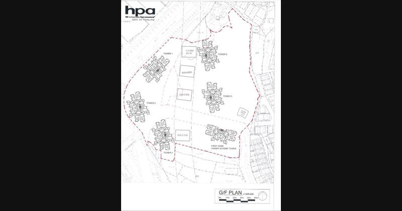 財團再就粉嶺棕地申商住發展 擬建6幢涉2156伙(資料來源:城規會)