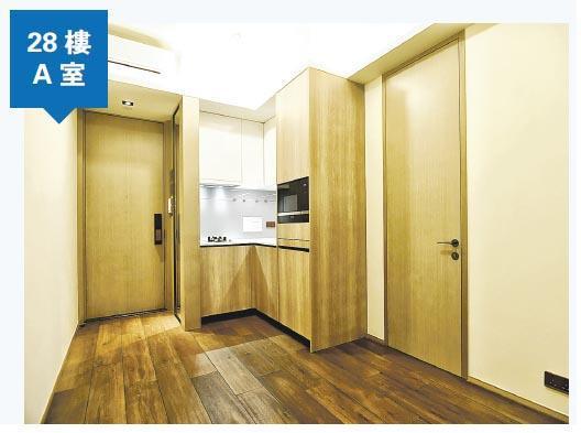 28樓A室同屬1房單位,大廳四正,並以梗牆作為廳與房的間隔。