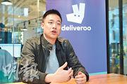 戶戶送香港區總經理羅家聰表示,香港外賣平台潛力仍然龐大,強調會不斷投資本地市場。(賴俊傑攝)