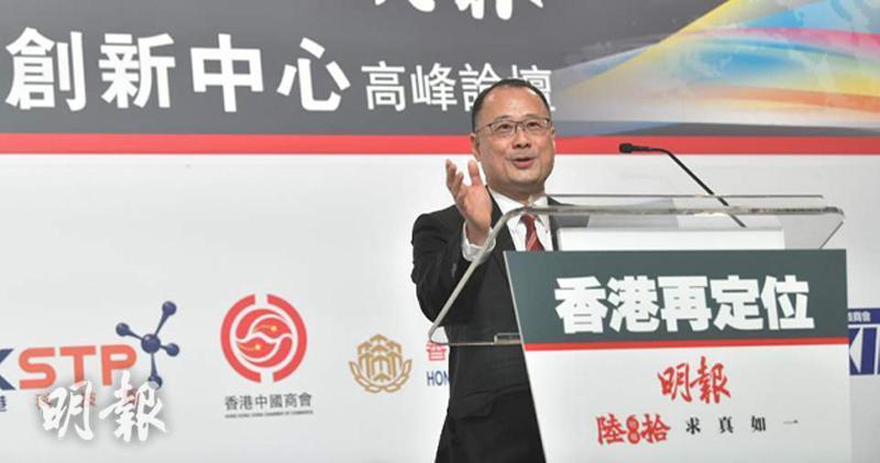 香港中華總商會會長蔡冠深(馮凱鍵攝)