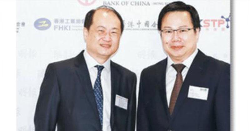 中國奧園為何股價一飛衝天?圖右為中國奧園主席郭梓文。