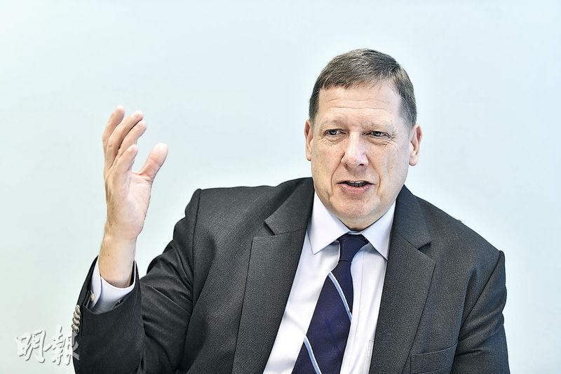 芝加哥商業交易所亞太區董事總經理Christopher Fix認為,港交所將推出MSCI中國A股指數期貨,不會影響該所業務發展。(馮凱鍵攝)