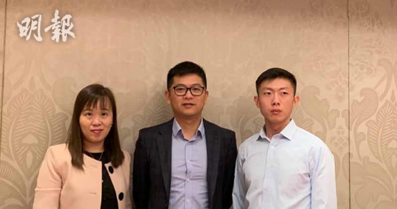 左起:首席財務官黃珮華、總裁黃逸峰、投資管理部投資經理姜特(李哲毅攝)