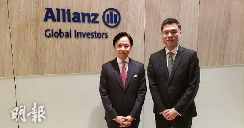 左起:安聯投資香港機構業務總監及亞太區顧問與客戶諮詢業務總監曹偉邦、亞太區行政總裁吳家耀(王俊騏攝)