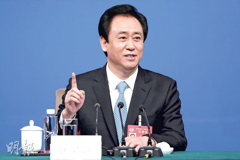 中國恒大自去年10月底以來已五度發債,規模高達88億美元。圖為中國恒大董事長許家印。(資料圖片)