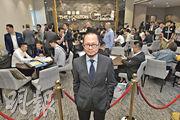 億京潘志才(圖)表示,公司作風一向低調,但「低調唔代表唔透明」,一開始已決定以價單形式發售海日灣II的首數批單位。(馮凱鍵攝)