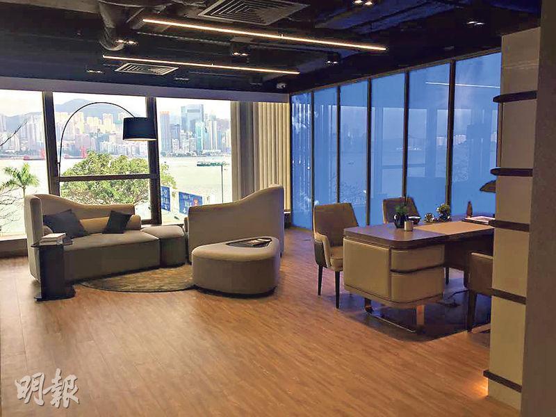 內房奧園在港商業項目AOffice 46現正推售,售價由149萬元起,圖為667方呎的辦公室。(甘潔瑩攝)