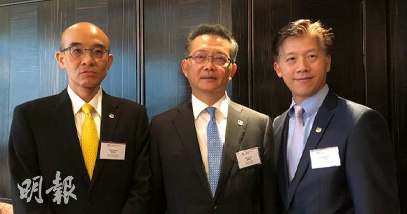 左起:公會副會長林智遠、會長羅富源、署理註冊主任伍大成(陳惠恩攝)